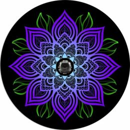 Bright Mandala Spare Tire Cover - Back Up Camera Ready
