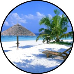 Calm Beach Spare Tire Cover - Black Vinyl