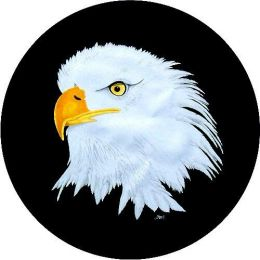 American Bald Eagle Spare Tire Cover on Black Vinyl