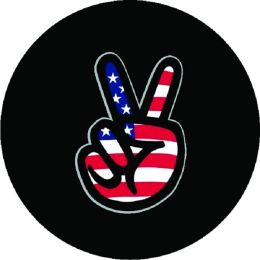 Peace Sign Flag Tire Cover
