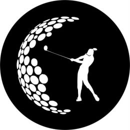 Golf Swing Ladies Spare Tire Cover on Black Vinyl