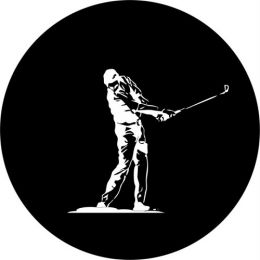 Golf Swing Spare Tire Cover on Black Vinyl