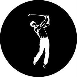 Golf Full Back Swing Spare Tire Cover on Black Vinyl