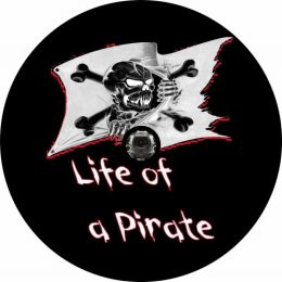 Life of a Pirate Spare Tire Cover - Back Up Camera Ready