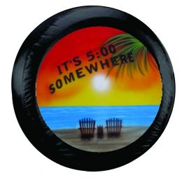 It's 5 o'clock Somewhere Palm Beach Spare Tire Cover