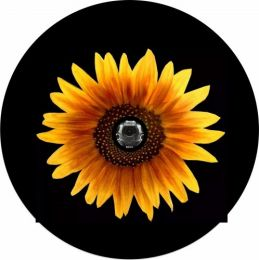 Yellow Sun Flower Spare Tire Cover - Back Up Camera Ready